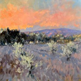 #186, mt ventoux, 2013, oil on canvas,100x100cm