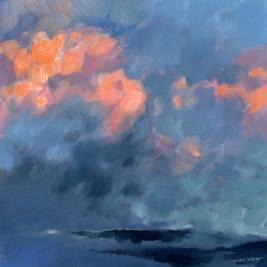 #211, mt ventoux, 2014, oil on canvas, 50x50cm
