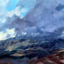 #208, mt ventoux, 2014, oil on canvas, 97x130cm