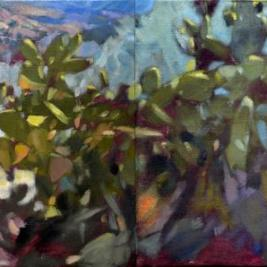 #314/16, 2020, oil on canvas, 50x200cm