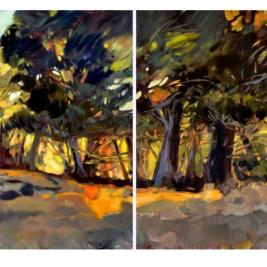 #298, 2017, oil on canvas, 130x320cm