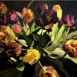 #306, 2018, oil on canvas, 90x100cm